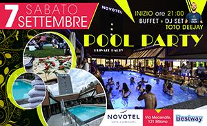 pool party 7 settembre novotel linate