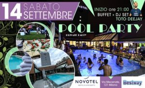 pool party 14 settembre novotel linate