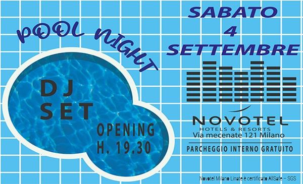 pool party 4 settembre novotel linate