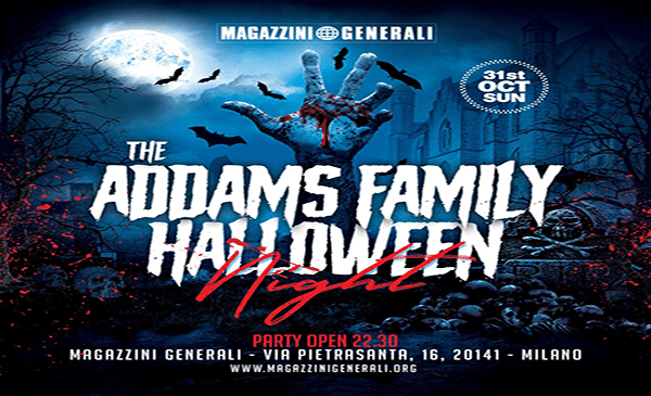 Halloween 2021 Magazzini Generali: Serata e Open Bar