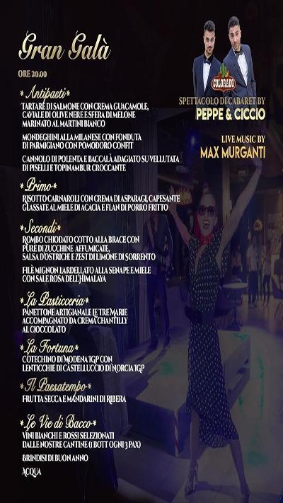 cenone capodanno the singer milano